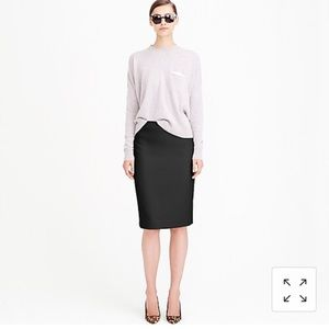 J. Crew No. 2 Pencil Skirt double Serge wool 14